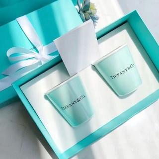 ティファニー(Tiffany & Co.)のTIFFANY&Co 紙コップ風カップ ボーンチャイナ カップ 2個セット(グラス/カップ)