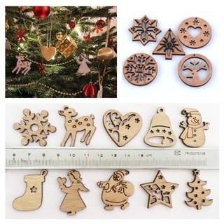 小さな 木製 北欧 クリスマス オーナメント ウッド クリスマスツリー  飾り