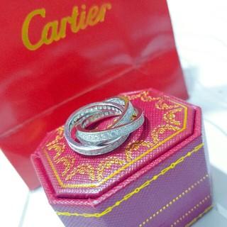 カルティエ(Cartier)のCartier レディース リング 指輪 超美品 ダイヤモンド 6#(リング(指輪))