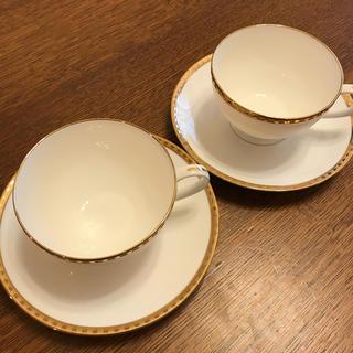 ティファニー(Tiffany & Co.)のティファニー カップ&ソーサー  ゴールドバンド(グラス/カップ)