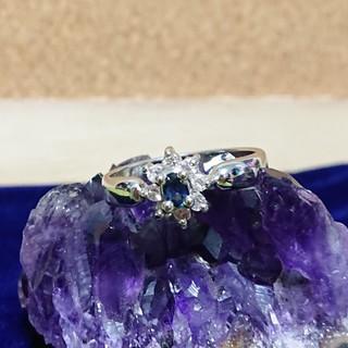 新品!ブルーサファイアのsilverの指輪(リング(指輪))