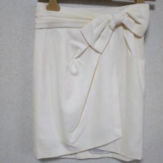 アプワイザーリッシェ(Apuweiser-riche)の新品☆アプワイザーリッシェ☆ウエストリボンスカート(ひざ丈スカート)