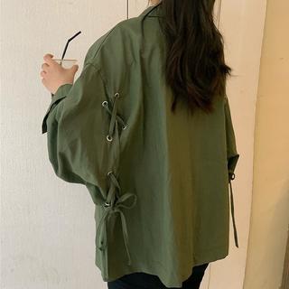大きいサイズ レディース ジャケット コート (ミリタリージャケット)