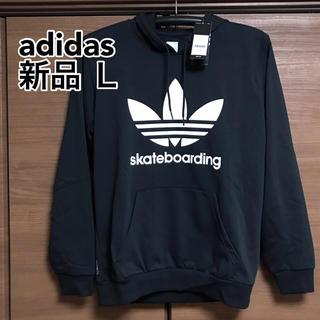 adidas - adidas スウェット パーカー 黒 新品 L
