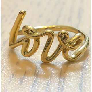 Tiffany & Co. - ティファニー パロマピカソ グラフティ 750YG love リング