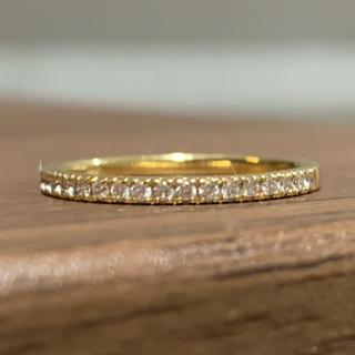 k18 ハーフエタニティ ダイヤリング 指輪(リング(指輪))