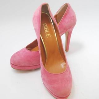 レディース 靴 BIBLE バイブル ポインテッドトゥ パンプス 11cmヒール(ハイヒール/パンプス)