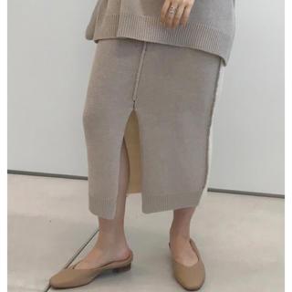 カプリシューレマージュ(CAPRICIEUX LE'MAGE)の新品 カプリシューレマージュ 裏切替ニットスカート(ロングスカート)