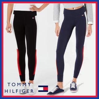 TOMMY HILFIGER - 日本未入荷★トミーヒルフィガー レギンス サイドカラー ブラック