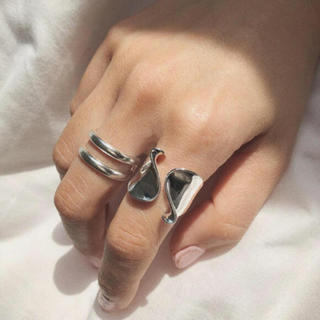 BEAUTY&YOUTH UNITED ARROWS - tear drop ring silver925 2点セット