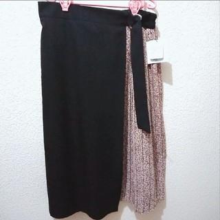 アベイル(Avail)の新品 Avail 4L 花柄 切り替え プリーツ ロング スカート♥しまむら(ロングスカート)