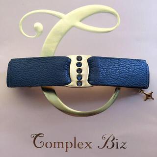 Complex Biz - complex biz double code レザーバレッタ ネイビー