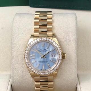 ROLEX - Rolexロレックスゴールドブルー自動機械女子時計