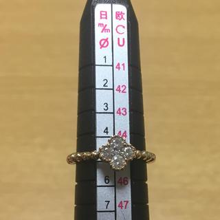 k18 0.25 ダイヤモンド リング ミルウチ   5号(リング(指輪))