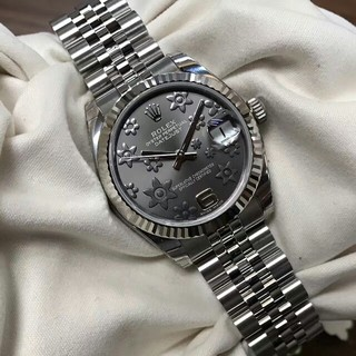 ROLEX - Rolex銀灰模様自動機械女子時計