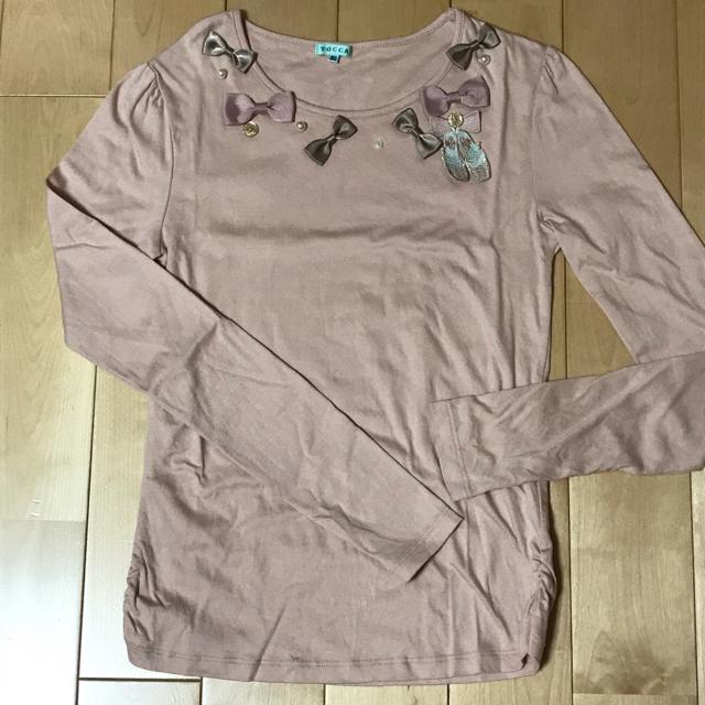 TOCCA(トッカ)のTOCCA 長袖カットソー Tシャツ ピンク リボン 150 キッズ/ベビー/マタニティのキッズ服 女の子用(90cm~)(Tシャツ/カットソー)の商品写真