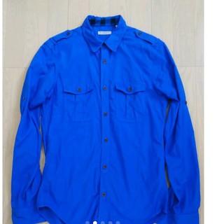 BURBERRY - BURBERRY バーバリー S サイズ ブルー 青 長袖 シャツ ビジネス