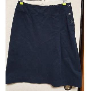 MUJI (無印良品) - 無印良品紺色スカート