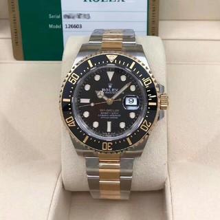 ROLEX - ロレックスの新型海使126603間の金自動機械男子時計