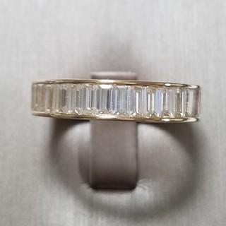 最高級モアッサナイト バゲットカット フルエタニティ(リング(指輪))
