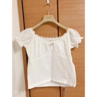 𝐞̀𝐩𝐢𝐧𝐞 cotton lace ribbon blouse