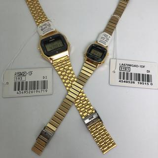 カシオ(CASIO)の送料込【新品】チプカシ ペア A159WGED-1  LA670WGAD-1(腕時計)