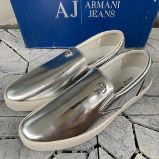 アルマーニジーンズ(ARMANI JEANS)の新品 AJ アルマーニジーンズ スリッポン スニーカー 25㎝ 送料無料(スニーカー)