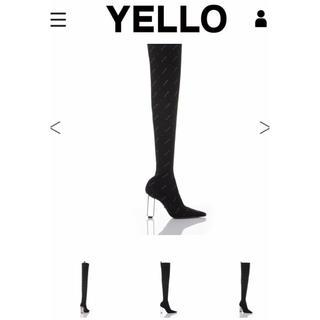 イエローブーツ(Yellow boots)の♡yellow今期人気ニーハイブーツ♡ブラック(ブーツ)
