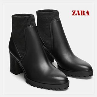 ZARA - ZARA ソックス風アンクルブーツ