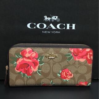 COACH - 新品【COACH コーチ】長財布 花柄 フローラル 赤い花