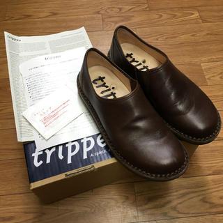 トリッペン(trippen)のTrippen トリッペン yen エン スリッポン 茶 ブラウン 37(ローファー/革靴)