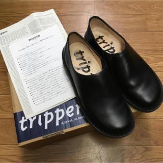 トリッペン(trippen)のTrippen トリッペン yen エン スリッポン ブラック 黒 37(ローファー/革靴)