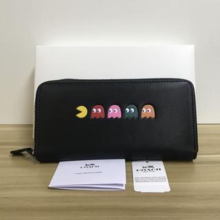 COACH - COACHxパックマン コーチ財布 F55736 長財布 可愛い ブラック