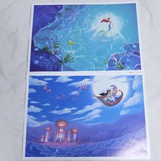 ディズニー(Disney)のディズニー キャラクターアートコレクション ポスター プリンセス(絵画/タペストリー)