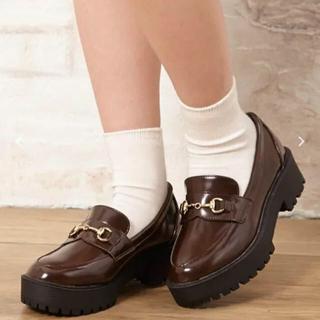 イング(INGNI)のINGNI 厚底BITローファー(ブラウン)(ローファー/革靴)