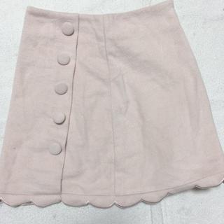 GRL - ベージュスカラップスカート