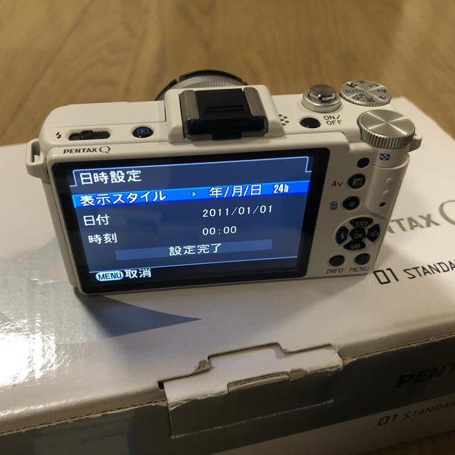 PENTAX(ペンタックス)のPENTAX ミラーレス一眼 Q レンズキット ホワイト スマホ/家電/カメラのカメラ(ミラーレス一眼)の商品写真
