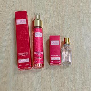 L'OCCITANE - ロクシタン ローズオードトワレ香水とフェースミストセット 新品