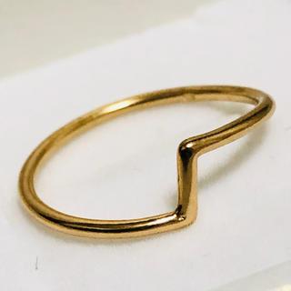 K18 クランクデザインのリング(リング(指輪))