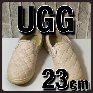 アグ(UGG)のUGG アグ スリッポン フラットシューズ スニーカー ピンクベージュ 23cm(スリッポン/モカシン)