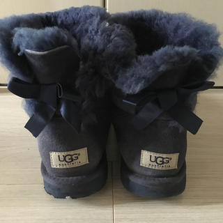 アグ(UGG)のUGG アグ  25 UK6.5  リボン ムートン ブーツ(ブーツ)