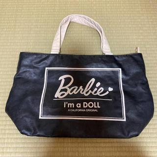 Barbie - トートバッグ エコバッグ バービー Barbie ピンク 黒