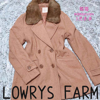 LOWRYS FARM - モテ♡秋♡ファー付♡Pコート♡女子力シルエット♡デート♡映え♡着回し♡オシャレ♡