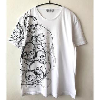 Alexander McQueen - アレキサンダーマックイーン スカルTシャツ Lサイズ ホワイト 白