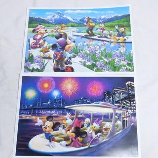 ディズニー(Disney)のディズニー キャラクターアートコレクション ポスター 絵画タッチ(絵画/タペストリー)
