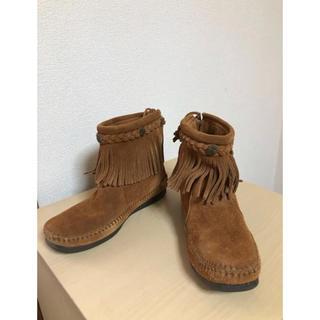 ミネトンカ(Minnetonka)の●ミネトンカ フリンジショートブーツ 6(23cm相当)(ブーツ)