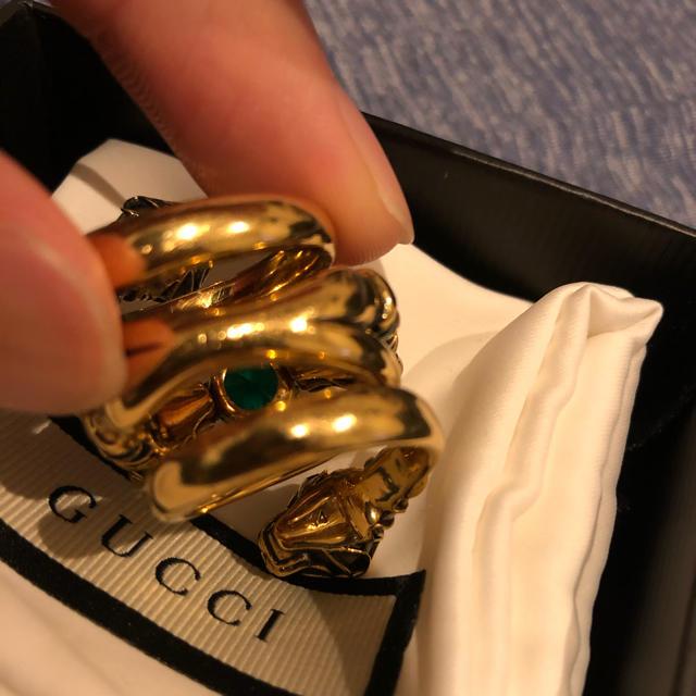 Gucci(グッチ)のGucci ダブルタイガーヘッドリング 14号 メンズのアクセサリー(リング(指輪))の商品写真