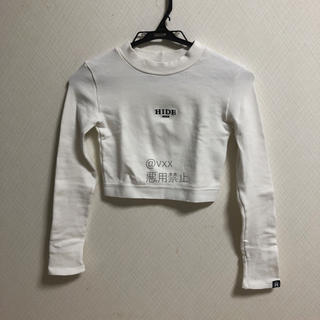 ミックスエックスミックス(mixxmix)のmixxmix HIDE クロップド Tシャツ(Tシャツ(長袖/七分))
