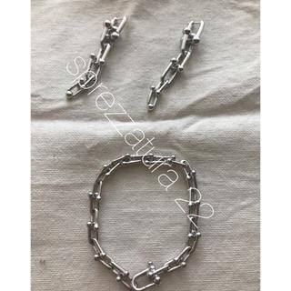 TOMORROWLAND - ♡様リピ様専用 刻印入り silver925 リンクピアス ブレスレット