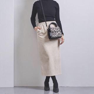 UNITED ARROWS - 極美品 コーデュロイ タイトスカート OFF WHITE36